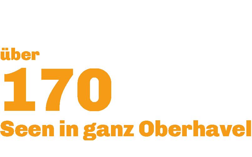 """""""Über 170 Seen in ganz Oberhavel"""" rechts daneben sieht man eine Figur im Kanu. Darunter steht """"120 Sportvereine""""."""